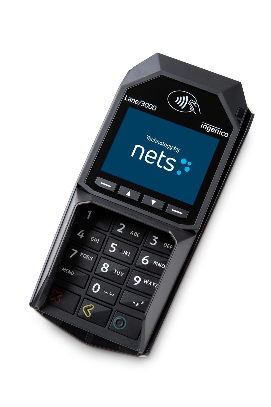 Stasjonær betalingsterminal fra Nets Lane 3000
