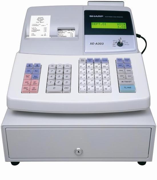 Kassaapparat Sharp XE-A303