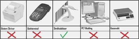 tilleggsprodukt til kassaapparatet sharp XE-A307